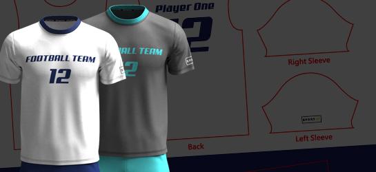 可自訂內容的足球 / 手球球衣 / 波衫